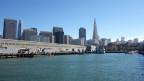Blick von Pier Nr. 17 auf das Zentrum von San Francisco.