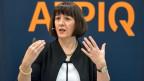 Die CEO Jasmin Staiblin von Alpiq anlässlich der Bilanzmedienkonferenz 2018 des Schweizer Stromproduzenten Alpiq vom, 26. März 2018.