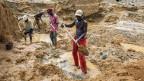 Minenarbeiter in Afrika.