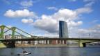 Wolken über der Zentrale der Europäischen Zentralbank (EZB) in Frankfurt.