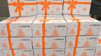 Zalando-Pakete vor der Ausliferung.
