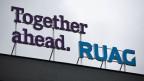 Das Logo der Ruag am Standort in Emmen.