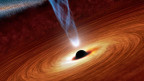 Im Innern eines Schwarzen Lochs verschmelzen Raum und Zeit – zu etwas, von dem niemand weiss, wie es aussehen könnte.