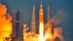 Start einer Rakete im Cape Canaveral, Florida.
