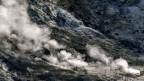 Der Solfatara-Krater ist Teil des Vulkans Campi Flegrei in Pozzuoli, Süditalien.