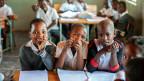 Kinder in einer Schule in Südafrika.