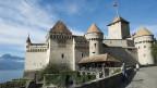 Schloss Chillon-das Wahrzeichen von Montreux am Genfersee.
