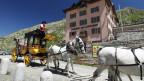 Die Kutsche der alten Gotthard-Post dient heute nur noch als Tourismus-Attraktion.