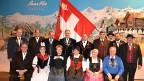 Der erweiterte Zentralvorstand des Eidgenössischen Jodlerverbandes an der Delegiertenversammlung in Saas Fee.