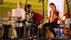 Trio Esther, Rafaela und Liliane beim Nationalen Final des Wettbewerbs «Folklorenachwuchs 2013».
