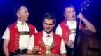 Nicolas Senn und zwei SängerFREUNDe bei «sennisch & freundlich» 2011.