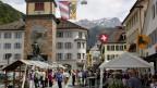 Dorffeststimmung in Altdorf beim Volksmusikfestival 2013.