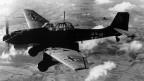 Deutscher Bomber im Einsatz während des zweiten Weltkriegs.