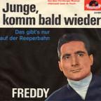 Freddy Quinn mit 32 Jahren auf dem Cover zur Hitsingle «Junge, komm bald wieder»