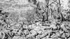 Drastische Darstellung des Schlachtfeldes von Marignano durch den Augenzeugen Urs Graf, 1521.