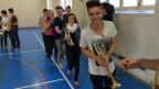 Luca Hänni hat bei den Proben mit BML Talents offensichtlich Spass.