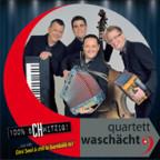 Das Quartett Waschächt auf dem Cover ihrer aktuellen CD «100% sCHwitzig».