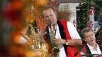 Carlo Brunner mit Saxofon.