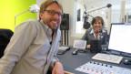 Paola und Christian Klemm im Sendestudio der SRF Musikwelle.