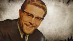 Bildcollage mit einem Porträt des Komponisten auf einem Vintage-Background.