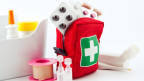 Ein Medizinkoffer, mit allem was man für die Reise braucht.