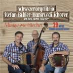 Das Schwyzerörgelitrio Stefan Bühler-Hansruedi Schorer mit Hardy Mischler auf dem Cover zum Album «Musige wie früecher».