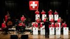 Die Swiss Army Big Band eröffnet die Sommertournee mit einem Platzkonzert in Zug am Mittwoch, 15. August 2018.