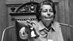 Nationalratspräsidentin Elisabeth Blunschy eröffnet am 6. Juni 1977 im Bundeshaus die Sommersession.