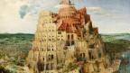 der Turm zu Babel auf einem Gemälde dargestellt.
