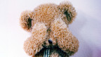 Ein trauriger Teddybär.