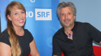 Michelle und Moderator Roger De Win.