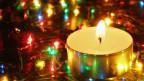 Kerze an Weihnachten