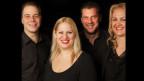 Die Formation «umsta»: Bläser Markus Beeler, Pianist Laurent Girard, Kontrabassistin Madlaina Küng und Akkordeonistin Jacqueline Wachter.