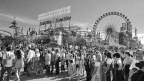 Einblick in den Jahrmarkt vom Oktoberfest.