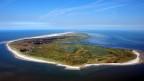 Luftaufnahme der Insel Spiekeroog.