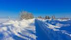 Verschneite Landschaft.