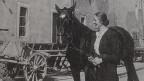 Eine Frau mit ihrem Pferd.