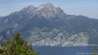 Die Gemeinde Hergiswil im Kanton Nidwalden am Fusse des Pilatus.