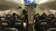 Audio «Kabinenpersonal macht sich fit für die Flugpassagiere» abspielen