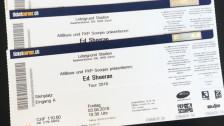 Audio «Viagogo liefert ungültige Tickets für Ed Sheeran» abspielen