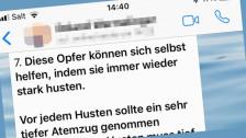 Audio «Whatsapp-Kettenbrief: Husten hilft nicht gegen Herzinfarkt!» abspielen