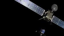 Audio «Erste Kometenlandung – Raumsonde Rosetta entlässt Lander Philae» abspielen