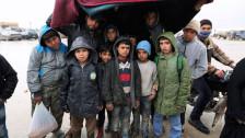 Audio «Syrische Grenze: Ausharren in Nässe und Kälte» abspielen