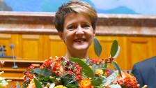 Audio «Bundespräsidentin Sommaruga am Dirigentenpult» abspielen