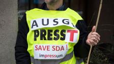 Audio «SDA-Mitarbeiter wehren sich gegen den Stellenabbau» abspielen