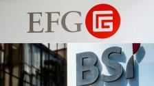 Audio «Allein zu klein - Privatbanken EFG und BSI gehen zusammen» abspielen