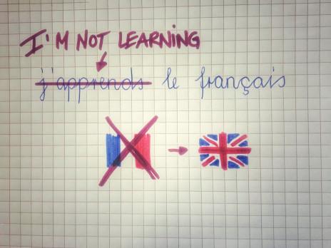 Laschar ir audio «I'm not learning le français!».
