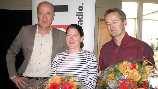 Daniel Hitzig (l.) mit Regula Fecker und  Andreas Freimüller.