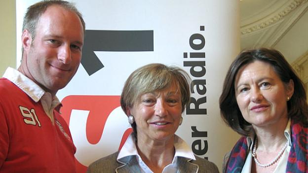 Katharina Kilchenmann (r.) mit Verena Weibel und Thomas Binggeli.