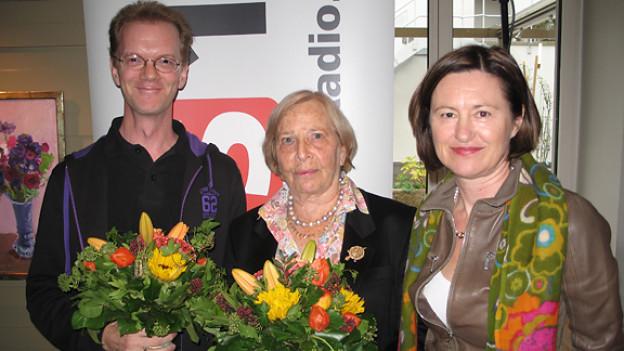 Dicco Bewes, Susan Ferenz und Katharina Kilchenmann (v.l.n.r.).